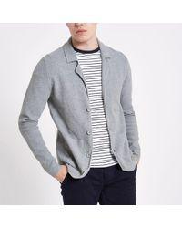River Island - Only & Sons Grey Knit Cardigan - Lyst