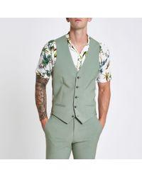 River Island - Mint Suit Waistcoat - Lyst