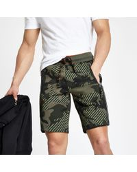Superdry - Camo Jersey Shorts - Lyst