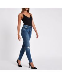 River Island - Denim Ri Original Skinny Jeans - Lyst