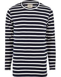 Minimum - Ecru Stripe Long Sleeve T-shirt - Lyst