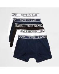 River Island - Ri Branded Waistband Trunks Multipack - Lyst