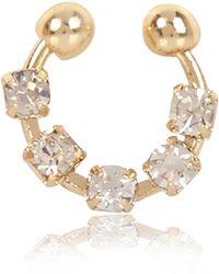River Island - Gold Tone Diamanté Nose Cuff - Lyst