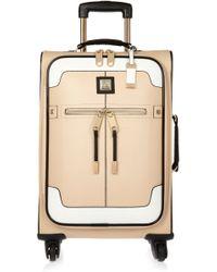River Island - Beige Colour Block Suitcase - Lyst