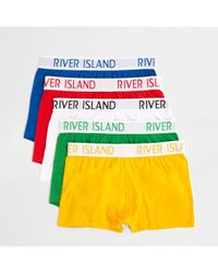River Island | Red Multi Colored Hipster Multipack Red Multi Colored Hipster Multipack | Lyst