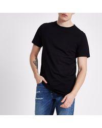River Island - Curved Hem Longline T-shirt - Lyst