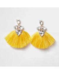 River Island | Yellow Jewel Tassel Drop Earrings Yellow Jewel Tassel Drop Earrings | Lyst