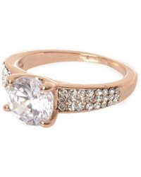 River Island | Cubic Zirconia Rose Gold Tone Diamante Ring Cubic Zirconia Rose Gold Tone Diamante Ring | Lyst