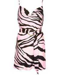 River Island - Plus Pink Zebra Print Slip Dress - Lyst