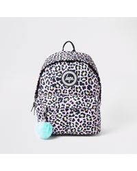 Hype Light Leopard Print Backpack