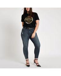 River Island - Plus Alannah Mid Rise Skinny Jeans - Lyst