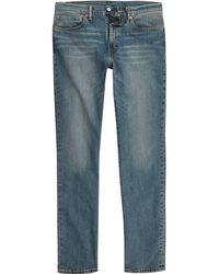River Island - Levi's Blue 511 Distressed Slim Fit Jeans - Lyst