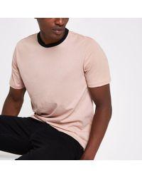 River Island - Ringer Slim Fit T-shirt - Lyst