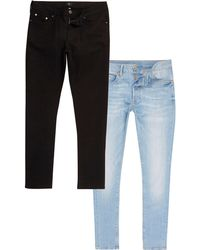 River Island - Slim Fit Jeans Multipack - Lyst