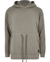 River Island - Only And Sons Brown Drawstring Waist Hoodie - Lyst