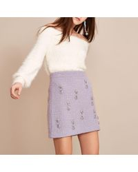 8281eb24acd23f River Island Plus Pink Checked Belted Mini Skirt in Pink - Lyst