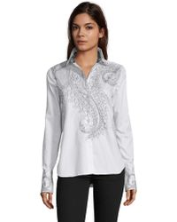 Robert Graham - Priscilla Scribble Paisley Embroidered Shirt - Lyst