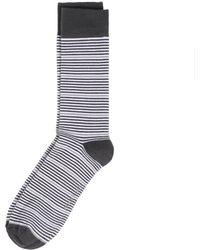 Rockport - Striped Crew Socks - Lyst