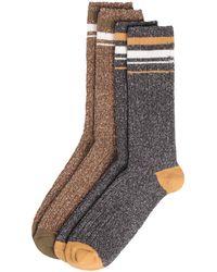 Rockport - Varsity Stripe Crew Socks - Lyst