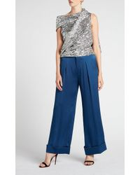 59113994f5b954 Lyst - Roland Mouret Syston Top in Metallic