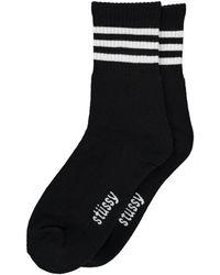 Stussy - Clean Stripe Socks - Lyst