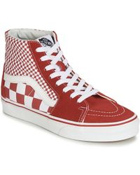 64ff34bce7 Vans - Sk8-hi Women s Shoes (high-top Trainers) In Red -