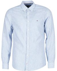 ceac6efb Tommy Hilfiger Mighty Plain Linen Shirt in Blue for Men - Lyst