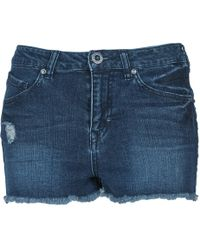 Volcom - Stix Women's Shorts In Blue - Lyst