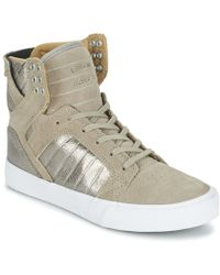 Supra - Womens Skytop Women's Shoes (high-top Trainers) In Beige - Lyst