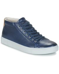 Blackstone - Nm04 Men's Shoes (high-top Trainers) In Blue - Lyst