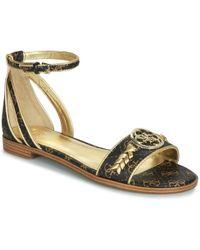 Guess Ronalda 2 Women s Sandals In Silver in Metallic - Lyst 770be98c27