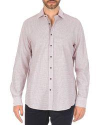 Hackett - Multi Mini Grid Check Long Sleeved Shirt - Lyst