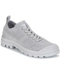 Palladium - Pampa Ox Lite K Women's Mid Boots In Grey - Lyst