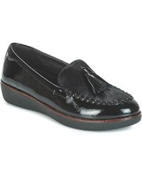 c6d3f56f4da Fitflop - Paige Faux-pony Loafers   Casual Shoes - Lyst