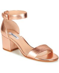 c24159a7e919 Dune Jaygo Block Heeled Sandals in Pink - Lyst