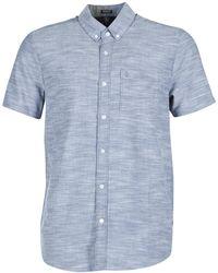 Volcom - Evrett Oxford Short Sleeved Shirt - Lyst