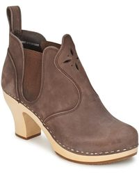 Swedish Hasbeens - Opera Bootie Low Boots - Lyst
