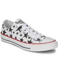 Converse - Chuck Taylor All Star Multi Star Print Ox Shoes (trainers) - Lyst