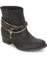 Tosca Blu Jewels Mid Boots Black For Women Online Sale