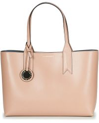 Emporio Armani Frida Pink Textured Top Handle Bowling Bag in Pink - Lyst e5c2db99d094a