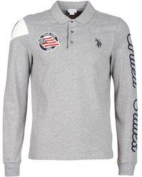 U.S. POLO ASSN. United States Polo Men's Polo Shirt In Grey - Gray