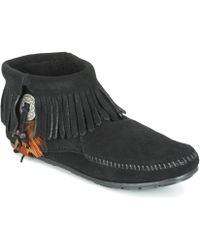 Minnetonka - Concho Feather Side Zip Boot Mid Boots - Lyst