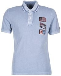 Timberland - Eastham Ss Polo Men's Polo Shirt In Blue - Lyst