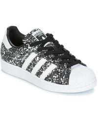 lyst adidas originali scarpe da donna superstar degli anni '80 di w cq2448 in