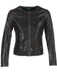 Benetton - Janoura Leather Jacket - Lyst