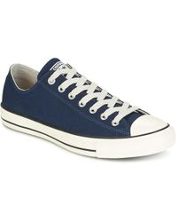 Converse - Chuck Taylor All Star Coated Leather Ox Midnight Navy black egre  Shoes 659ad34e4
