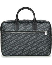 Emporio Armani - Lettering One Zip Briefcase Briefcase - Lyst