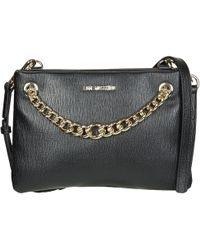 769b3212e90 Love Moschino Bernese Small Black Quilted Shoulder Bag in Black - Lyst