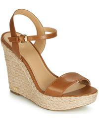 7681938536e9 MICHAEL Michael Kors - Jill Wedge Women s Sandals In Brown - Lyst