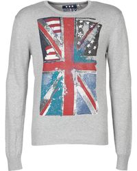 U.S. POLO ASSN. - 90 Colored Flags Kt Men's Sweater In Grey - Lyst
